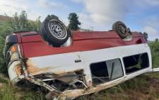 Taxi rollover leaves two dead, fourteen injured in Lone Hill on Monday, 8 February 2021. Picture: @ER24EMS/Twitter
