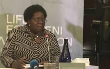 The former chairperson of the Gauteng Mental Health Review Board Dumazile Masondo. Picture: Masego Rahlaga/EWN