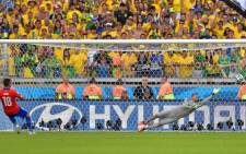 Chile's Gonzalo Jara hit the decisive penalty against the post, handing Brazil a 3-2 win in the shootout. Picture: Facebook.com