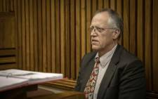 Mechanical engineer and accident expert Konrad Lotter appears as an expert witness in the Randburg Magistrates Court for Duduzane Zuma on 16 May 2019. Picture: Thomas Holder/EWN
