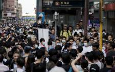 FILE: Thousands of protesters regrouped in central Hong Kong on Friday to push their call for democracy.  Picture: AFP.