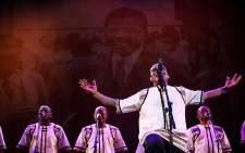 Grammy award-winning group Ladysmith Black Mambazo perform in celebration of Nelson Mandela. Picture: Kayleen Morgan/EWN