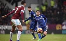 Premier League leaders Chelsea was held to a draw by Burnley in an entertaining game played amid flurries of sleet and snow. Picture: Twitter/@ChelseaFC.