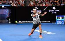 Roger Federer in action at the Australian Open. Picture: @Australian Open/Twitter