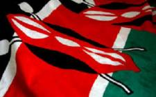 Kenyan flag. Picture: AFP.