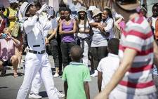 A dance group performs their routine during the Maboneng Township Arts Experience. Picture: Thomas Holder/EWN.