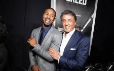 Sylvester Stallone and Michael B Jordan at Los Angeles World Premiere 'Creed' at Regency Village Theater on 19 November 2015. Picture: Creed Facebook page.