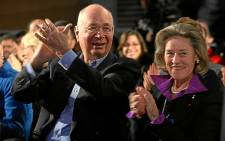Klaus Schwab, the founder and chairman of the World Economic Forum, and his wife Hilda. Picture: World Economic Forum/swiss-image.ch