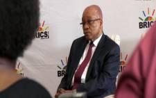 President Jacob Zuma at BRICs press briefing