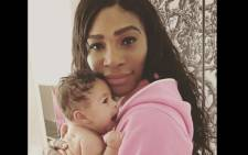 Serena Williams and her daughter, Alexis Olympia Ohanian Junior. Picture: @serenawilliams/Instagram