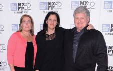 Karen Snowden, director Laura Poitras, and Lonnie Snowden attend The World Premiere of The Radius/Participant/HBO Documentrary Films 'Citizen Four' at the New York Film Festival at Alice Tulley Hall. Picture: AFP.