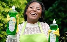 Tebogo Langa, founder of Marvellous Chem dishwashing liquid. Picture: @MarvelousLanga/Twitter.