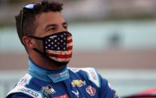 In this file photo Bubba Wallace, driver of the #43 World Wide Technology Chevrolet, stands on the grid prior to the NASCAR Cup Series Dixie Vodka 400 at Homestead-Miami Speedway on 14 June 2020 in Homestead, Florida. Picture: AFP.