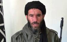 An undated grab from a video obtained by ANI Mauritanian news agency reportedly shows former Al-Qaeda in the Islamic Maghreb (AQIM) emir Mokhtar Belmokhtar speaking at an undisclosed location. Islamists held 41 foreigners hostage, including seven Americans, after an attack on a gas field in eastern Algeria on January 16. Picture: AFP.