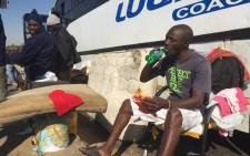 What was meant to be a two-day trip back home has resulted in a nightmare journey for 38 Malawian nationals who have been stuck for over a month in a broken bus on the East Rand. Picture: Vumani Mkhize/EWN.