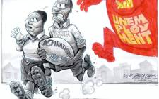 This cartoon first appeared in the City Press newspaper in 2012