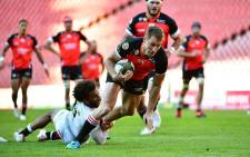 The Sharks won 33-21 over the Lions when they clashed in the Rainbow Cup at Emirates Airline Park on Saturday. Picture: Emirates Lions.