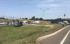 A shoot-out took place on the Modderfontein on-ramp on 2 March 2018. Picture: Mandy Wiener/EWN.
