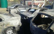 Ngangelizwe Saps investigates case of arson after burning down of 5 vehicles kept on Saps premises. Picture: Twitter @SAPoliceService.