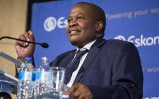 FILE: Former Eskom CEO Brian Molefe speaks during a press conference in Johannesburg on 3 November 2016. Picture: EWN.