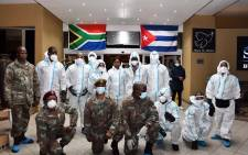 President Cyril Ramaphosa has welcomed 217 Cuban health professionals who are in the country to support efforts to curb the spread of COVID-19. Picture: GCIS.