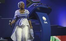 FILE: Phumzile van Damme makes her way on stage to deliver her speech at Democratic Alliance's elective congress in Tshwane on 7 April 2018. Picture: Sethembiso Zulu/Eyewitness News