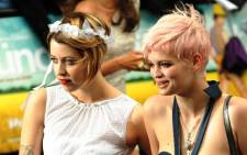 Peaches Geldof (L) and her sister Pixie (R). Picture: AFP.
