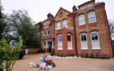 FILE: The London home of South African couple Gary and Tania Clarence, where three of their young children were killed on 22 April 2013. The mother has been arrested for their murders. Picture: AFP.