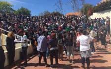 Protesting Stellenbosch University students say they're going to shut down campus on 23 September 2016, because they say management isn't taking them seriously. Picture: Monique Mortlock/EWN.