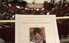 A memorial for Madikizela-Mandela took place in Harlem at the Abyssinian Baptist Church on 12 April 2018. Picture: @NadiaNeophytou/Twitter