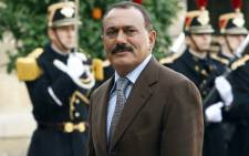 This file photo taken on 18 November 2006 shows Yemeni ex-president Ali Abdullah Saleh arriving at the Elysee Palace in Paris to meet with former French president Jacques Chirac. Picture: AFP.