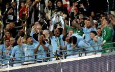 Pep Guardiola claimed his maiden English silverware as his side thrashed Arsenal 3-0 in the League Cup final on 25 February 2018. Picture: Facebook.