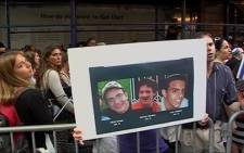 Mourners in the US protest after three Israeli teens were found dead on 30 June, 2014. Picture: Supplied.