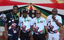 From left to right: MMC Mlungisi Mabaso, IFP gauteng provincial chair Bonginkosi Dhlamini, provincial secretary Alco Ngobese and provincial treasurer Johannes Dhlamini. Picture: IFP Gauteng/Twitter