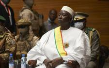 In this file photo taken on 25 September 2020 Transition Mali President Bah Ndaw is seen during his inauguration ceremony at the CICB (Centre International de Conferences de Bamako) in Bamako. Ndaw and Malian Prime Minister Moctar Ouane have resigned after the military arrested them on 24 May 2021. Picture: Michele Cattani/AFP