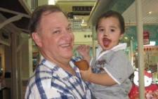 South African Oswald Düvel who was killed in Thailand is pictured with his son Heinrich (3) Picture: Facebook