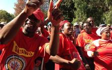 Satawu members strike in Parktown on 7 May 2013. Picture: Lesego Ngobeni/EWN