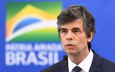 Brazil's Health Minister Nelson Teich speaks after taking office at Planalto Palace in Brasilia, on 17 April 2020. Teich resigned on 15 May 2020 after several disagreements with President Jair Bolsonaro in conducting the fight against the COVID-19. Picture: AFP