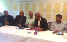 Opposition parties briefing the media after meeting on 3 April 2017 about the motion of no confidence in President Zuma. Picture: Masa Kekana/EWN.
