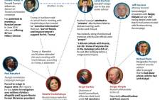 Graphics on meetings and phone calls that were initially undeclared, but were later revealed, as an investigation into Russian interference in the 2016 US presidential vote continued this year. Picture: AFP