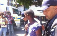 Police moved in to make several arrests during the illegal protest in Cape Town on 27 February 2014. Picture: Siyabonga Sesant/EWN.