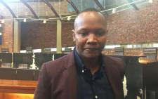 Kenneth Nkosana Makate inside Constitutional Court after winning the legal battle against Vodacom over the Please Call on 26 April 2016. Picture: Mia Lindeque/EWN.