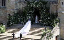US actress Meghan Markle arrives for the wedding ceremony to marry Britain's Prince Harry, Duke of Sussex, at St George's Chapel, Windsor Castle, in Windsor, on 19 May 2018. Picture: AFP