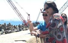 FILE: Cape Town Mayor Patricia de Lille visits the V&A Waterfront Desalination Plant in the drought-stricken city. Picture: Kevin Brandt/EWN