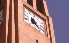 A clock on Matlosana municipal building after the 5.3 magnitude earthquake shook South Africa. Picture: Siyasanga Madikane, Facebook.