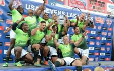 The Springbok Sevens team claimed their second consecutive Las Vegas Sevens title on Monday, 27 January 2014. Picture: Facebook.