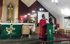 Archbishop Emeritus Desmond Tutu's daughter Mpho delivers a scripture reading at a joint prayer service held on Sunday 6 September 2015 for her father and Bishop Charles Albertyn. Picture: Natalie Malgas/EWN