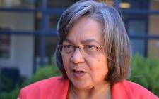 Patricia de Lille met with Valhalla Park residents to provide findings from a probe into service delivery. Picture: Aletta Gardner/EWN