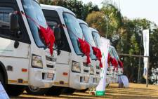 Fifteen modified buses were handed over to Schola Amoris Special School KZN on 3 September 2020. Picture: @DBE_ZA/Twitter
