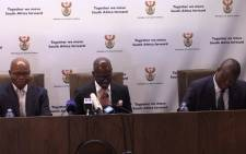 New Finance Minister speaking at the GCIS in Pretoria.Picture: Kgothatso Mogale/EWN